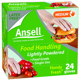 Ansell Handy Fresh Disposable Gloves Powdered